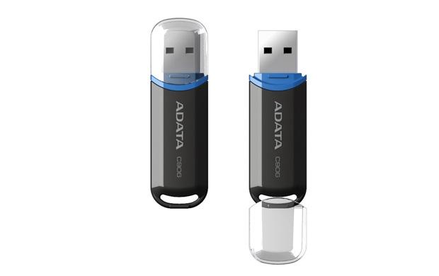 USB Flash RAM A-Data 8GB Flash Drive C906 Black