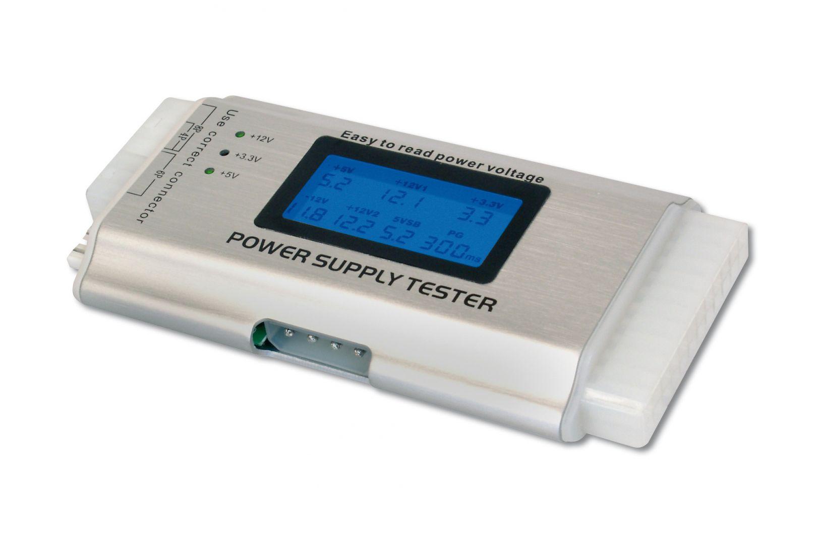 Tápegység Digitus ATX Power Supply Tester with LCD