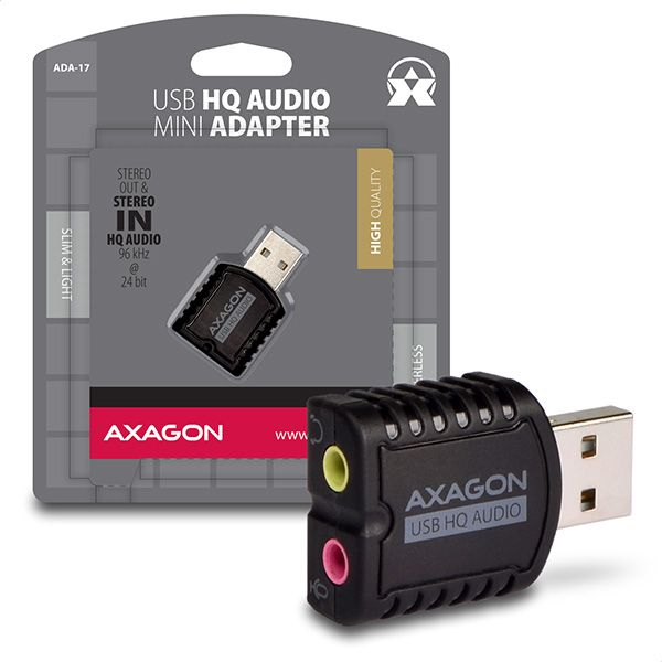 Hangkártya AXAGON ADA-17 USB HQ Mini Audio