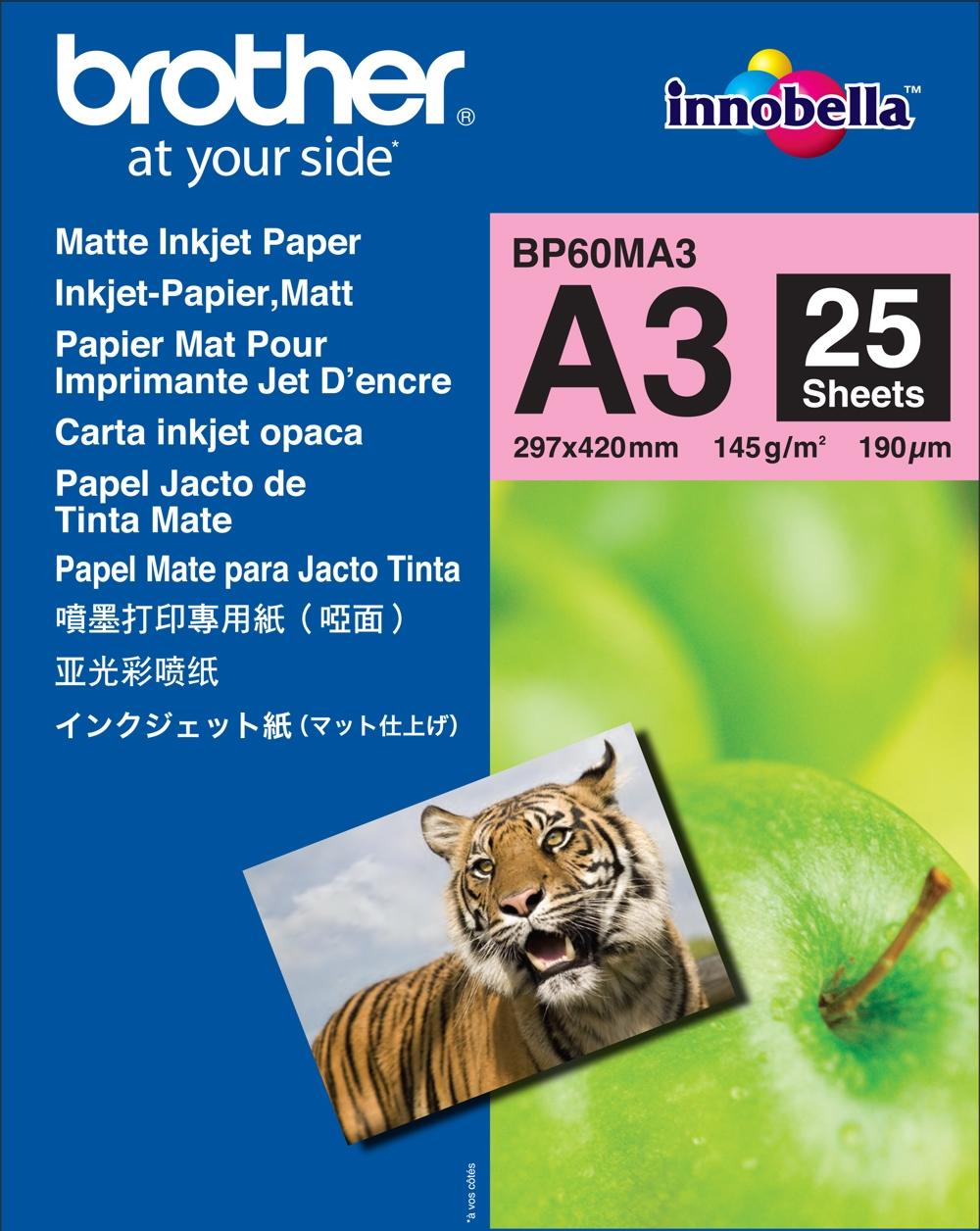 Fotópapír Brother Matt Inkjet BP60 A3 25db/csomag