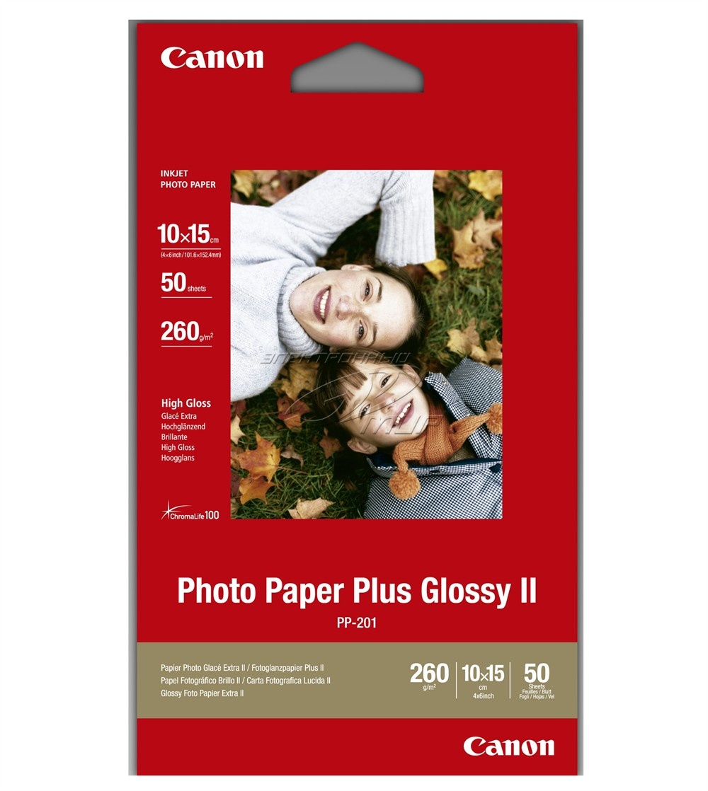 Fotópapír Canon Fotópapír PP-201 10x15 Plus GLOSSY II, 275g / 50db
