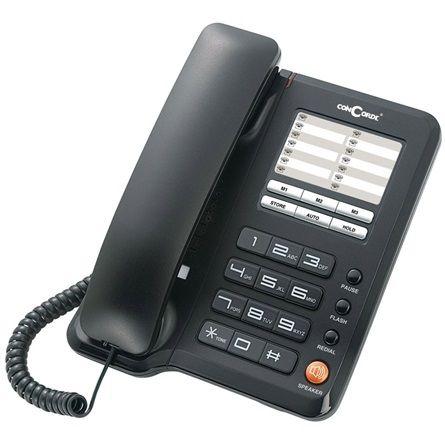 Telefon Concorde A40 asztali telefon Black