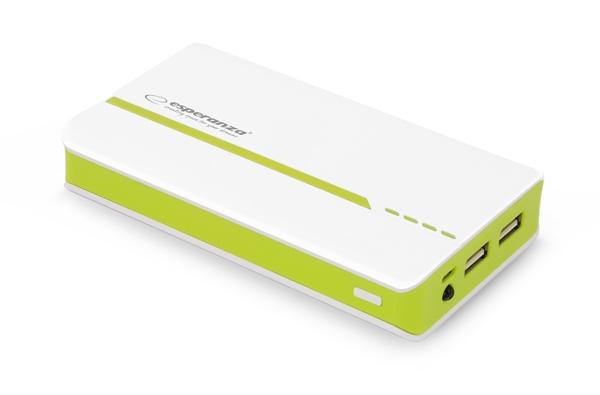 Powerbank Esperanza Atom 11000 mAh Power Bank White/Green