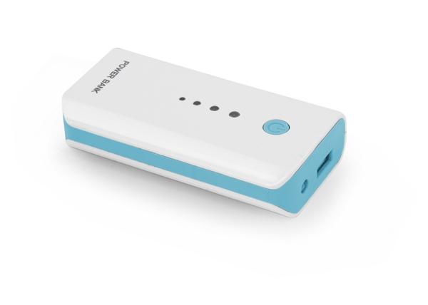 Powerbank Esperanza Electron 5200 mAh Power Bank White/Blue