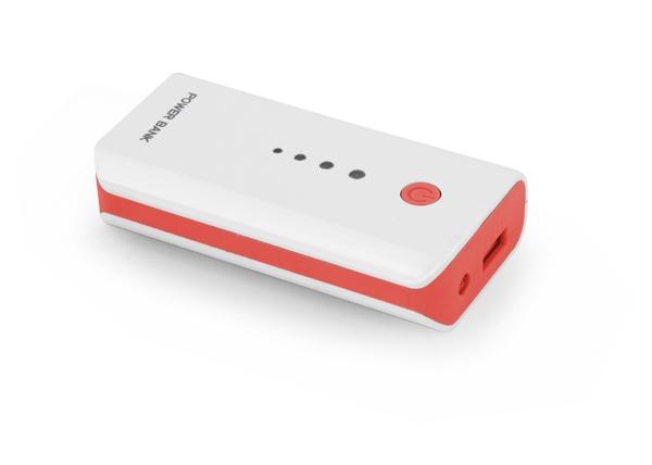 Powerbank Esperanza Electron 5200 mAh Power Bank White/Red