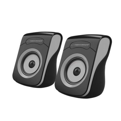 Hangszóró Esperanza Flamenco USB Stereo Speakers Black/Grey