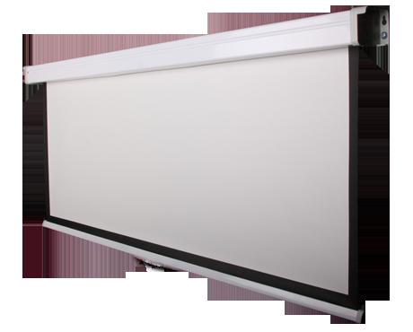 Vetítővászon Funscreen Matt White Rollo 127x170 cm Format 4:3 fehér acél tok