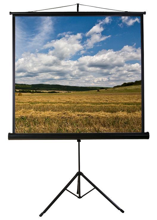 Funscreen Matt White Tripod 160x160 cm Format 1:1