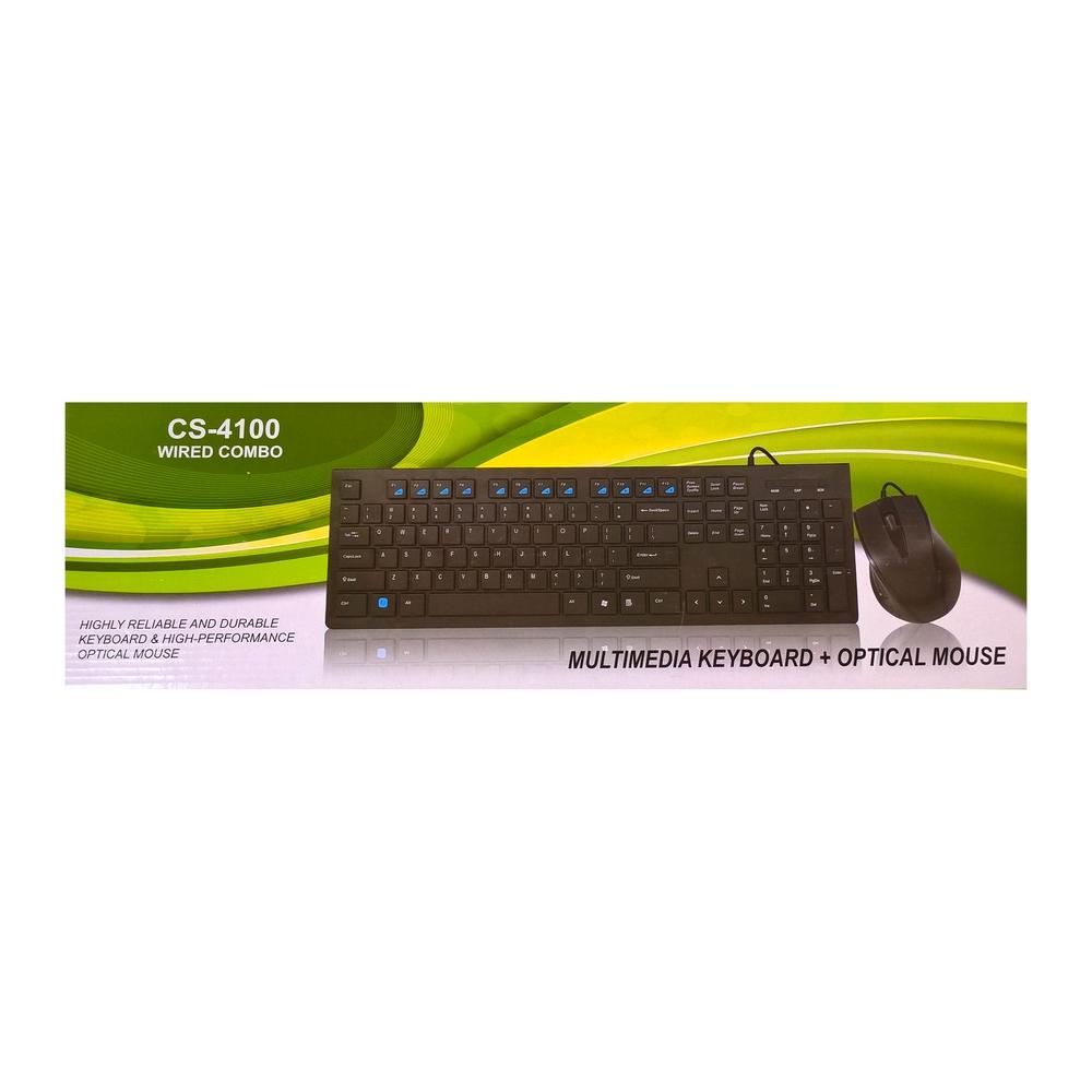 Billentyűzet Gaba CS-4100 billentyűzet + egér USB Black