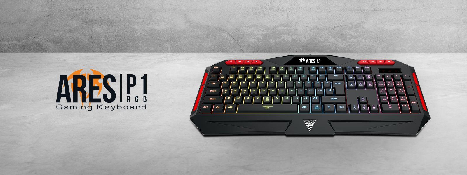 Billentyűzet Gamdias Ares P1 Gaming keyboard Black US
