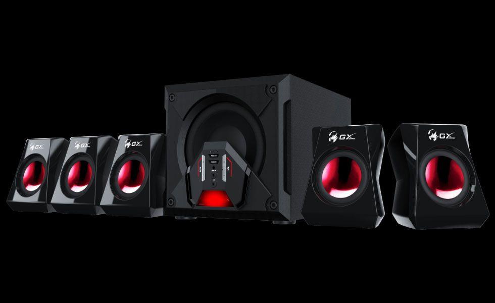 Hangszóró Genius SW-G5.1 3500 Gaming hangszóró Black