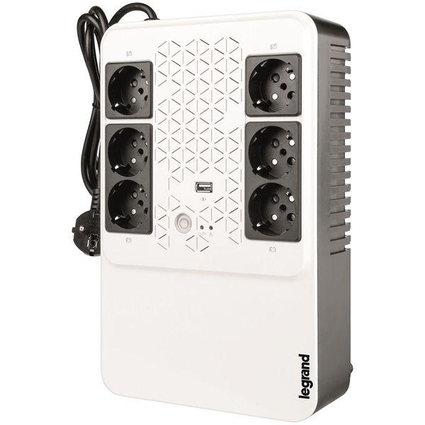 Szünetmentes Tápegység Legrand KEOR-M 6-os multimédiás szünetmentes elosztósor Always-on USB töltő aljzat 600VA