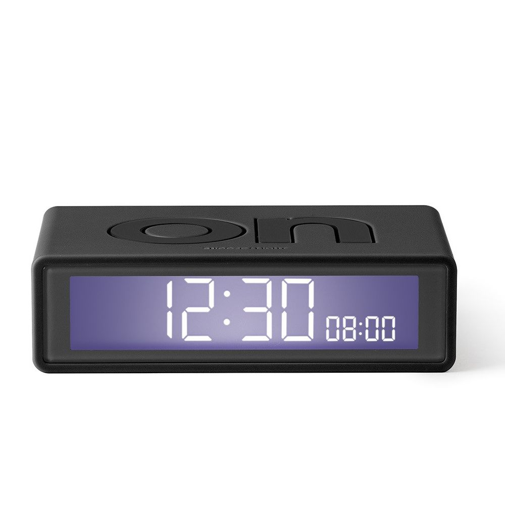 Hi-fi Lexon Flip+ Travel LCD Alarm Clock Dark Grey