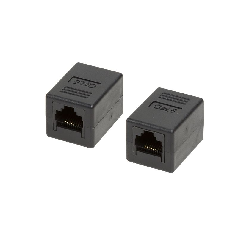 Hálózati eszközök Logilink Cat.6 RJ45 UTP Inline Coupler 1:1 Black