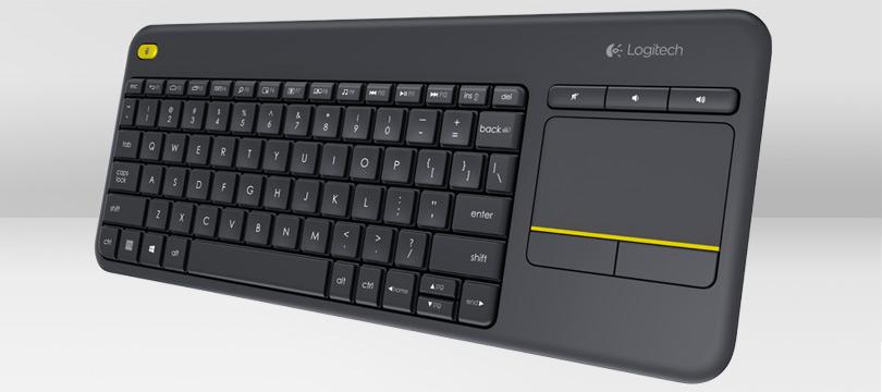 Billentyűzet Logitech K400 Plus Wireless Touch Keyboard Black HU