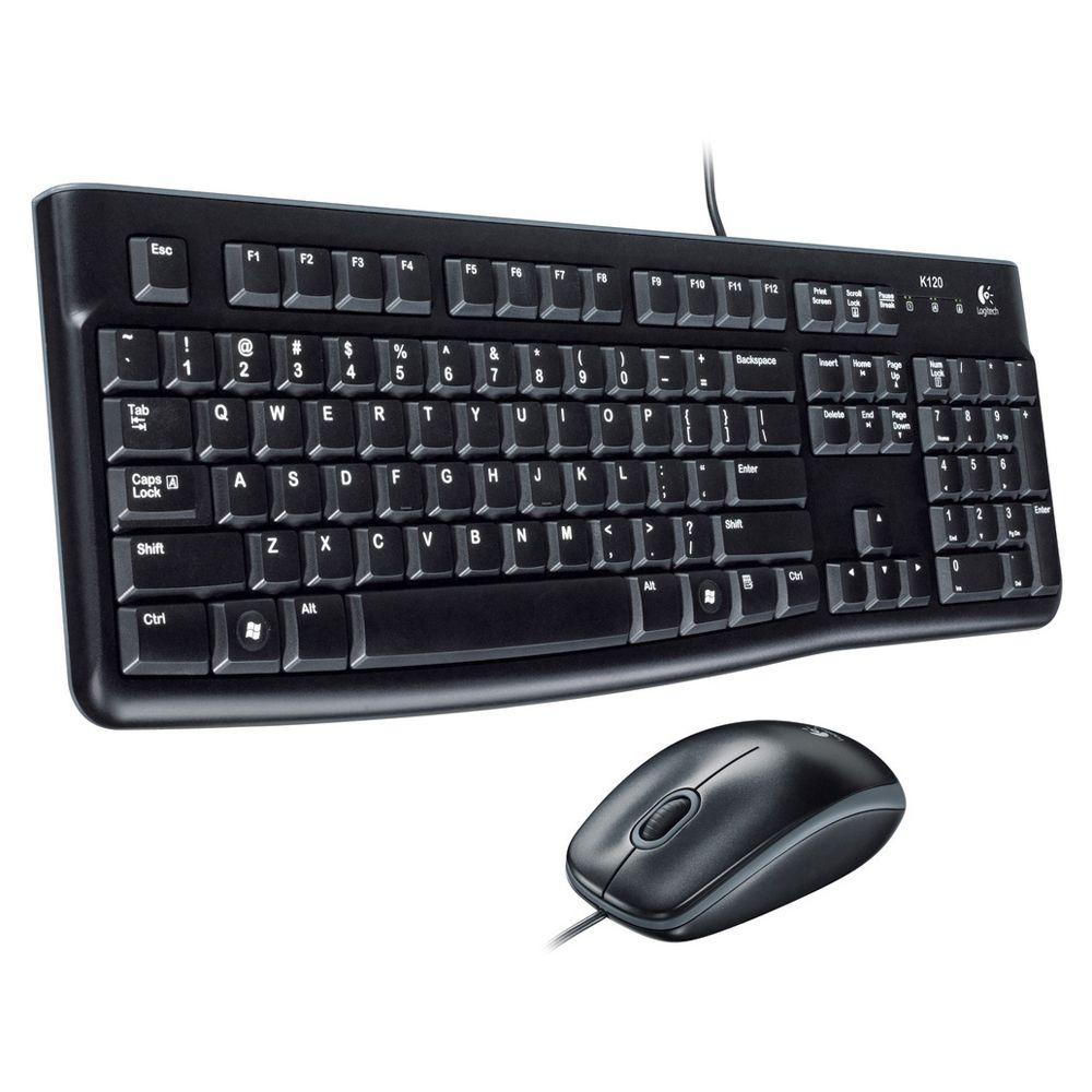 Billentyűzet Logitech MK120 USB billentyűzet + egér Black US (holland!)