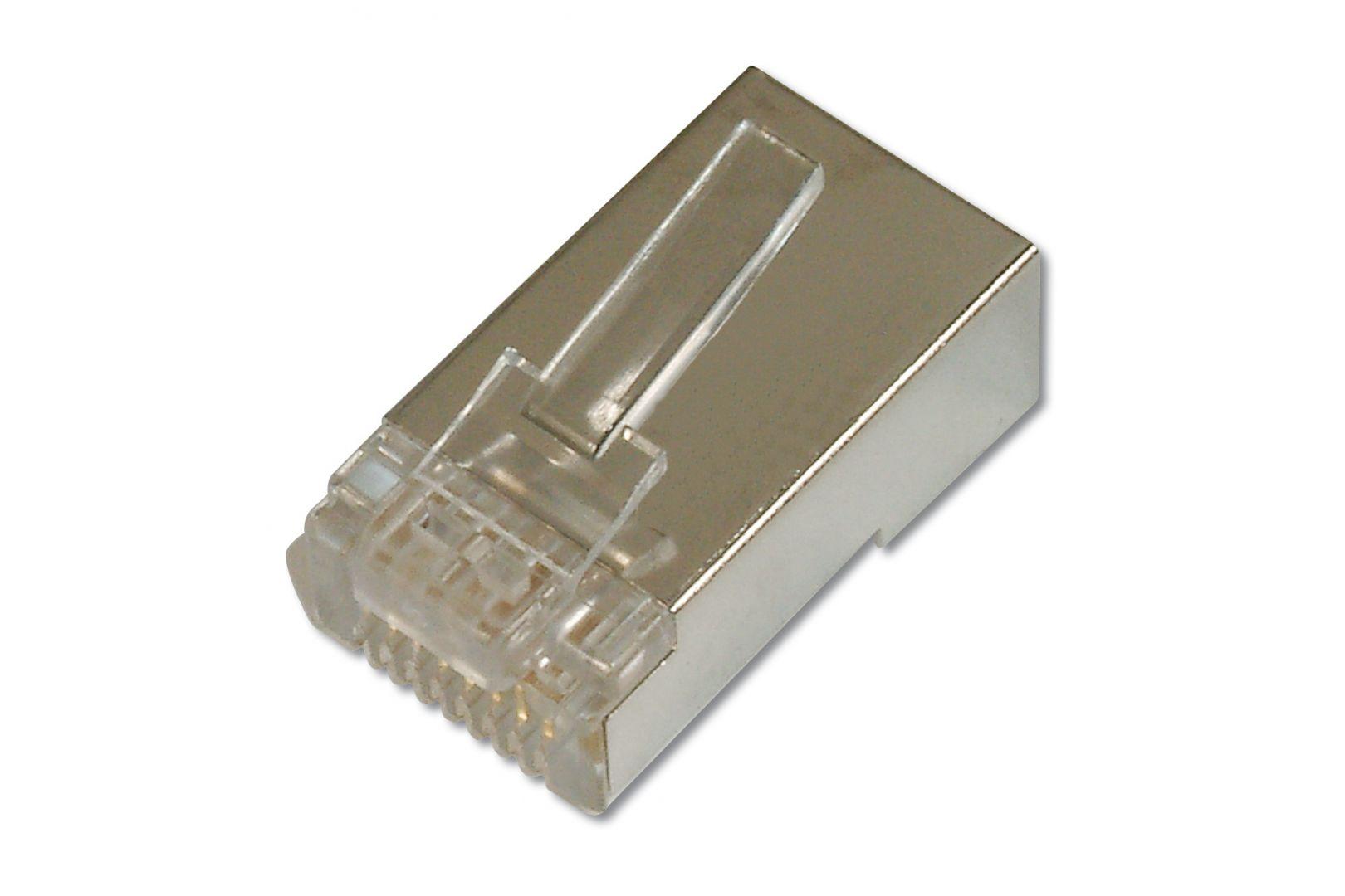 Hálózati eszközök Assmann Modular Plug, for round cable, 8P8C, CAT 5