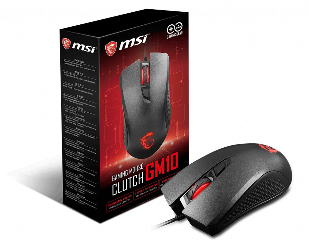 Egér Msi Clutch GM10 Gaming mouse Black