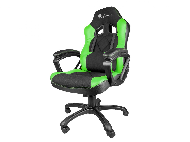Gaming szék Natec Genesis SX33 Gaming Chair Black/Green