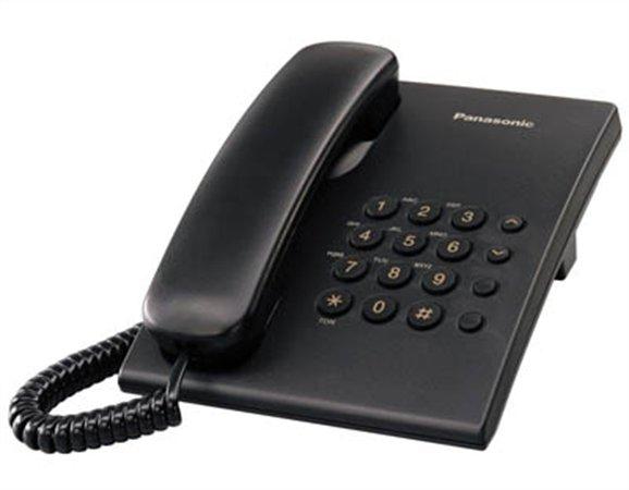 Telefon Panasonic KX-TS500HGB vezetékes telefon Black