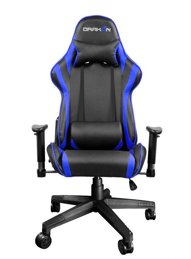 Gaming szék RaidMax Drakon DK706 Gaming Chair Black/Blue