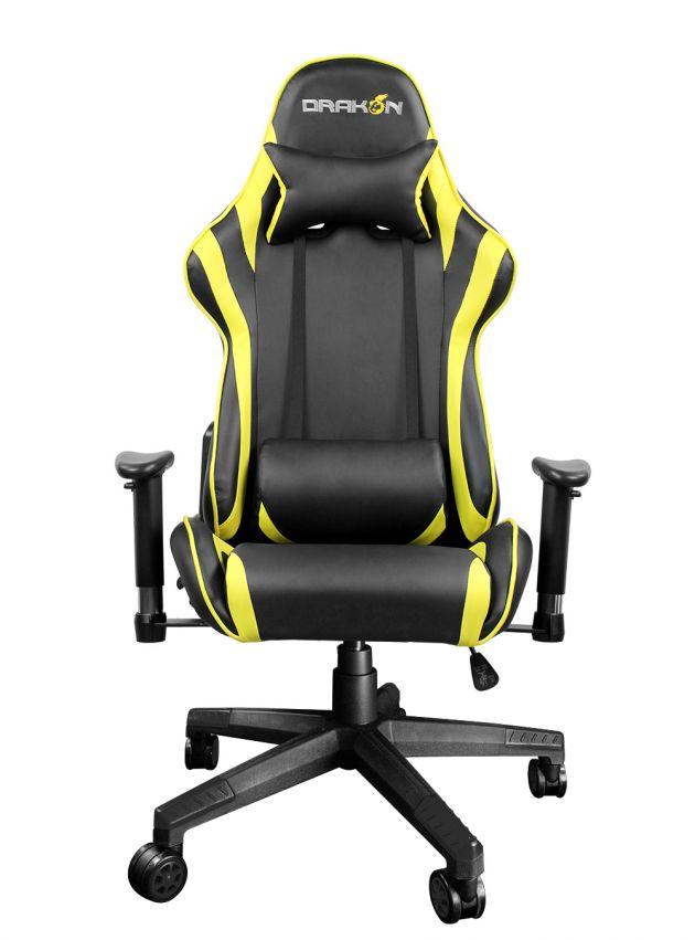 Gaming szék RaidMax Drakon DK706 Gaming Chair Black/Yellow