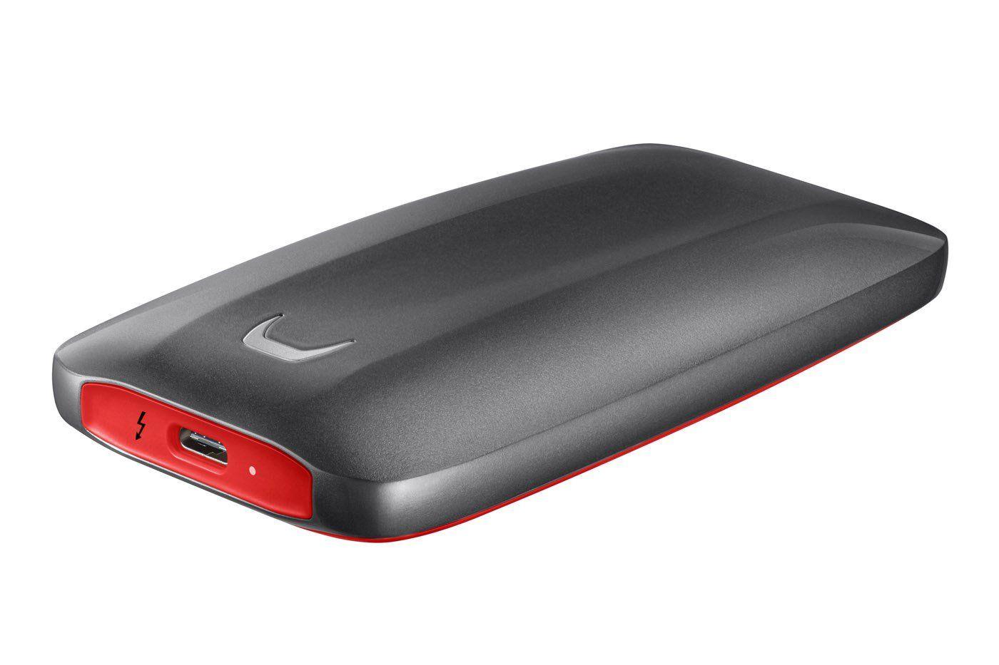 Winchester SSD (külső) Samsung 2TB Thunderbolt 3 X5 Series Grey/Red MU-PB2T0B