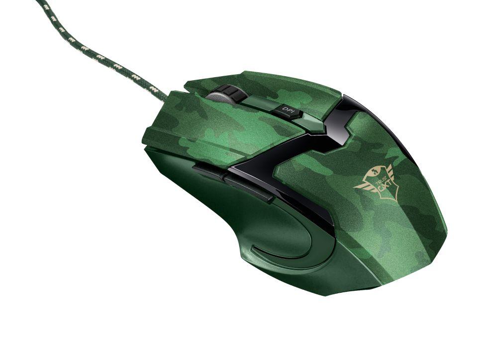 Egér Trust GXT 101D Gav Optical Gaming mouse Jungle Camo