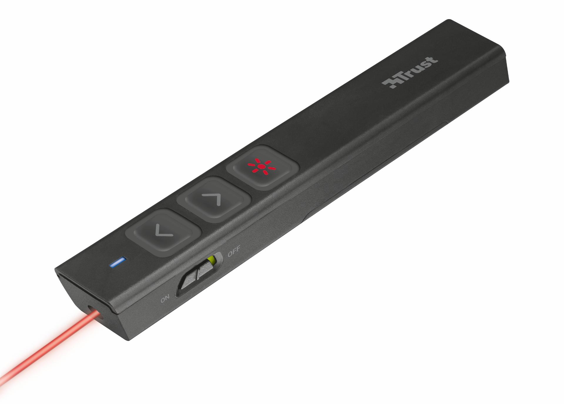 Presenter Trust Sqube Ultra-slim Wireless Laser Presenter Black